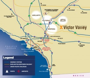 Victor Valley Area Map